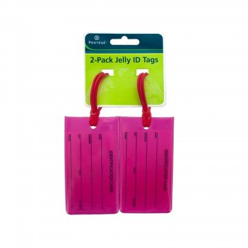 Price comparison product image 2-Pack Jelly Identification Luggage Tags (Pink)