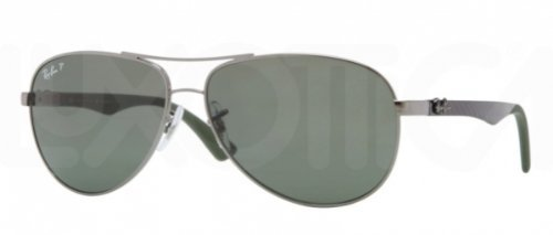 Ray-Ban Sunglasses - RB8313 Carbon Fibre / Frame: Gunmetal Lens: Polarized Grey ()