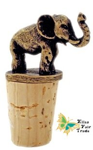 Handmade Brass Elephant Wine Stopper by Eliza Fair Trade