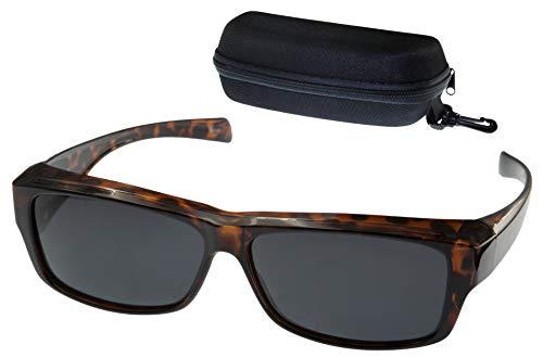 ETP Sunglasses - Polarized Smoke Lens with Case - Tortoise Frame - Size Small