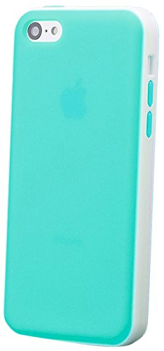 iCues Apple iPhone 5C 2 Part Protection Cover - Grün - Zweiteilige Bauweise - flexibles TPU mit Polycarbonat Rückseite + Displayschutzfolie