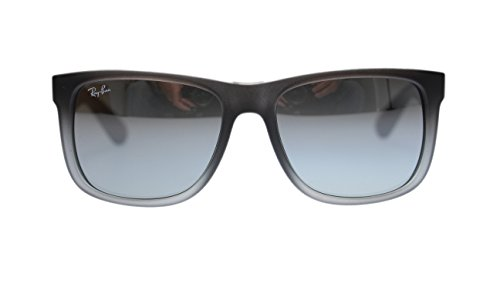 Ray Ban Justin Mens Sunglasses RB4165 852/88 Rubber Gray With Mirror Lens - Ban Sunglasses Oakley Ray