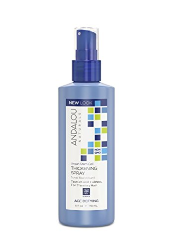 Andalou Naturals Argan Stem Cell Age Defying Thickening Spray, 6 Ounce Bottle