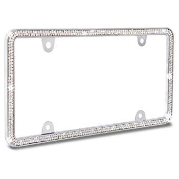 Bell Automotive 22-1-46501-8 Black Diamond License Plate Frame