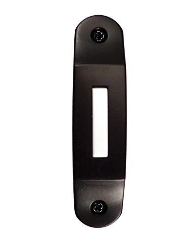 NICOR Lighting Lighted Designer Door Bell Button for Prime Chime, Black (DBBK) ()