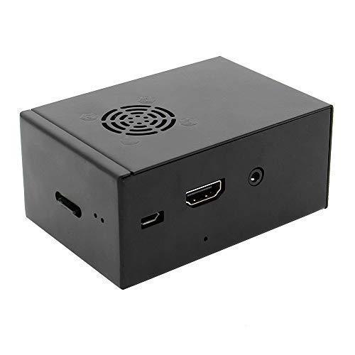 Geekworm Raspberry Pi X850 V3.0 mSATA SSD Expansion Board Metal Case with Cooling Fan Kit, Enclosure for X850 V3.0 Board & Raspberry Pi 3 Model B+ / 3B /2B