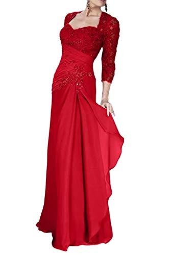 Chiffon Elegant Fuer La Partykleider Brautmutterkleider Abendkleider Hochzeits Chiffon Marie Braut Rot Formalkleider Etwn8wqFx