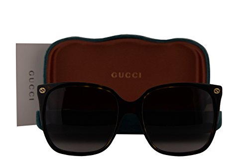 0b5f7a37ae8 Gucci GG0022S Sunglasses Havana w Gray Gradient Lens 003 GG 0022S
