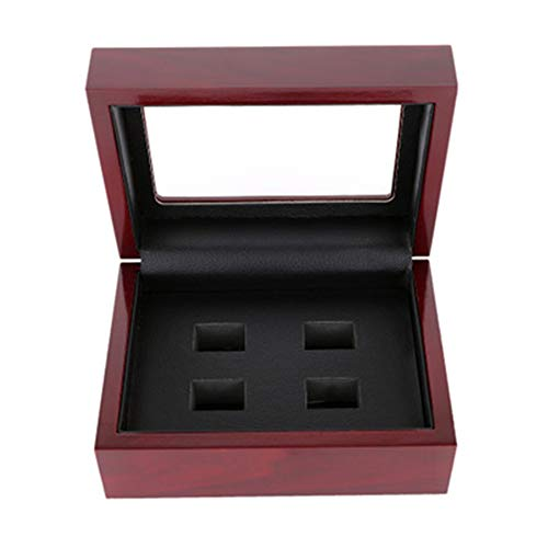 F1rst Rate Solid Wooden Jewelry Box Organizer with Ring Necklacel Gift Storage Brown(4-One Size)