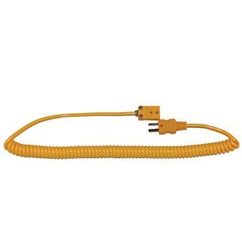 Digi-Sense Coiled Extension Cable Type K Male to Female Miniconnector 5-ft L [並行輸入品] B074XNQBBH