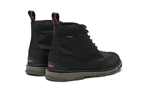 Swims Storm Brogue High Boot, Nero / Gomma, 9