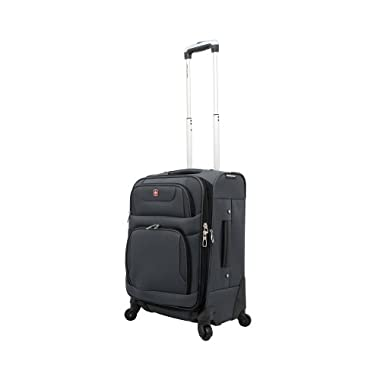 Carry-On Spinner Suitcase Color: Grey/ Black