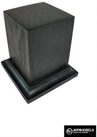 Desconocido Peana Pedestal de Madera Acabado en Negro 5x5x6: Amazon.es: Juguetes y juegos