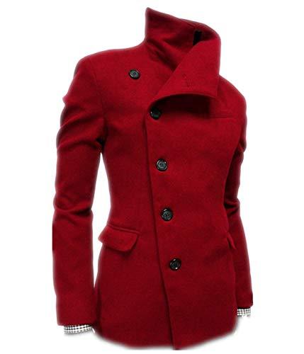 Winter Jacket Jacket Elegant Men Huixin Autumn Wool Coat Men Stand Coat Parka Winter Winter Trench Coat Apparel Mens Coat Jacket Rot Collar SXwOYBxqO