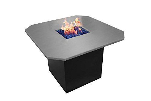 Firegear KWBTO-L-SS Key West Bistro Fire Table, Stainless Steel Top