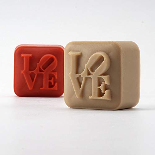 Soap molds - Nicole Silicone Soap Mold Handmade Square with Love Characters Chocolate Candy Valentine Gift Mould