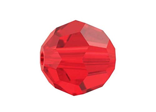 (50pcs 6mm Adabele Austrian Round Crystal Beads Light Siam Red Compatible with 5000 Swarovski Crystals Preciosa SS2R-606)