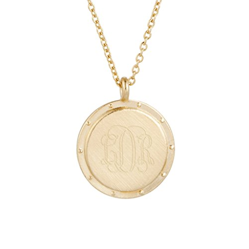 Custom Engraved Gold Plated Necklace ( 3/4inch, 30 inch chain with 2 inch - Plated Chains Gold Canada
