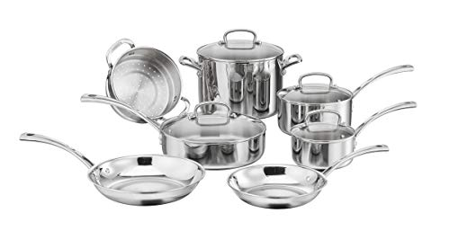 Cuisinart FCT-11 French Classic Tri-Ply Stainless 11-Piece Cookware Set