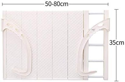 タオルラック、タオルバー、ドアハンガー、バスルームタオルバー、日光浴ラック、ハンギングラック、ハンギングアーティファクト、格納式衣類 (Color : 50cmx80cm, Size : White)