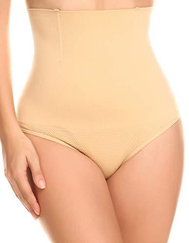 CeesyJuly Womens Hi Waist Tummy Tucker Underwear Butt Lifter Panty Shaper Nude