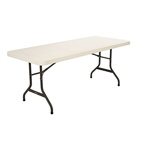 Lifetime 22900 Folding Utility Table, 6  Feet, Almond by Lifetime