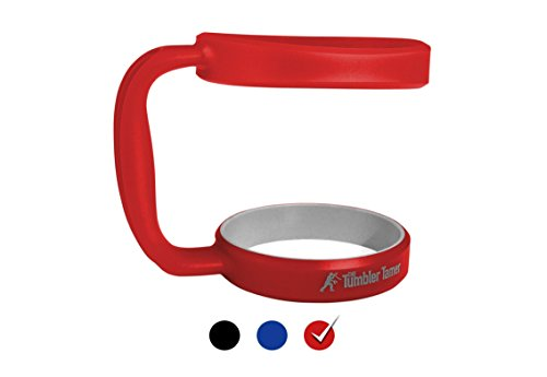 Handle for Yeti Rambler 30 Oz - The Tumbler Tamer - fits Ozark Trail SIC Thermik & many others - Rambler Red