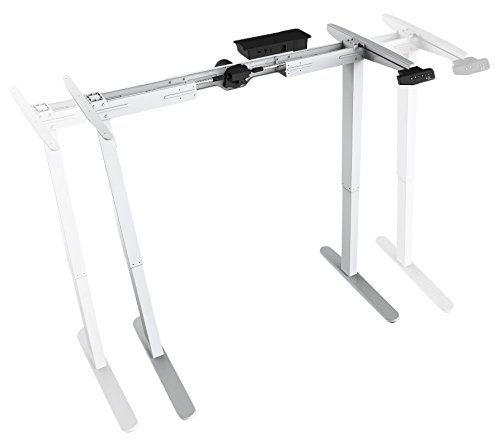 Mingo Labs TPL100 Frame Motorized Sit and Stand Desk Base for Customizable Work Space, White by Mingo Labs