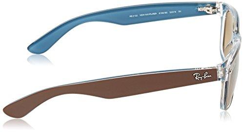 Ray-Ban-NEW-WAYFARER-TOP-MT-CHOCOLATE-ON-BLUE-Frame-LIGHT-BROWN-GRAD-DARK-BROWN-Lenses-52mm-Non-Polarized