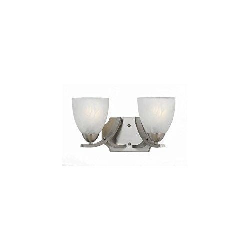 Lumenno Lighting 8001-00-02 Vanity with White Swirl Alabaster Glass Shades, Satin Nickel - Swirl Bath Lighting Glass