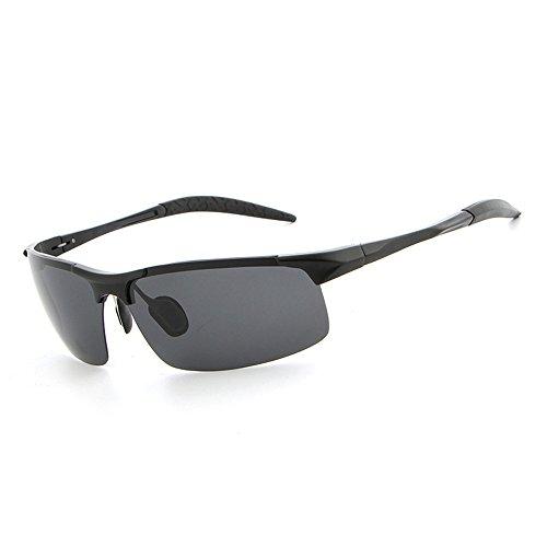 RFVBNM aluminio la del sol de sol los de de de libre gafas del de aire gafas personalidad sol del hombres de magnesio negro espejo al marco Lente Gafas gris marco de del conductor polarizador la le manera anti ULTRAVIOLETA 6IAW7qxrnI