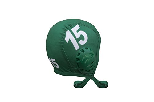KAP7 Turbo Standard Water Polo Cap Set with 3 Numbers (Green)