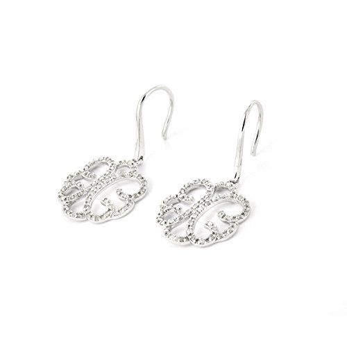 Tousmesbijoux Boucles d'oreilles filigrane en Or blanc 375/00 et diamants