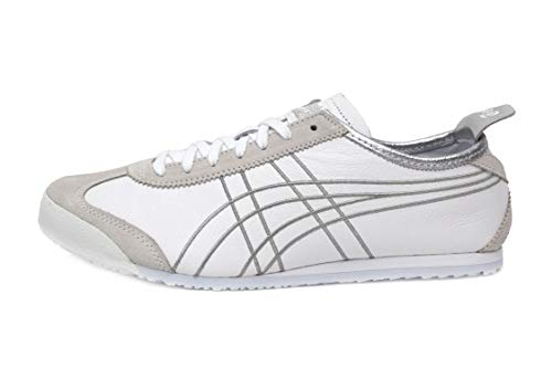 Onitsuka Tiger Unisex Mexico 66 White/Silver 12 M US