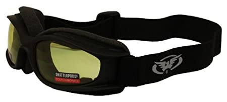 NITROYL Black Frame//Yellow Lens Global Vision Nitro Riding Goggles