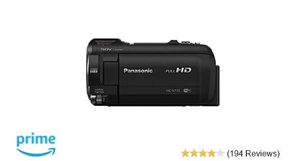 amazon com panasonic full hd camcorder hc v770 20x optical zoom rh amazon com Panasonic Camcorder Sony Professional Camcorders