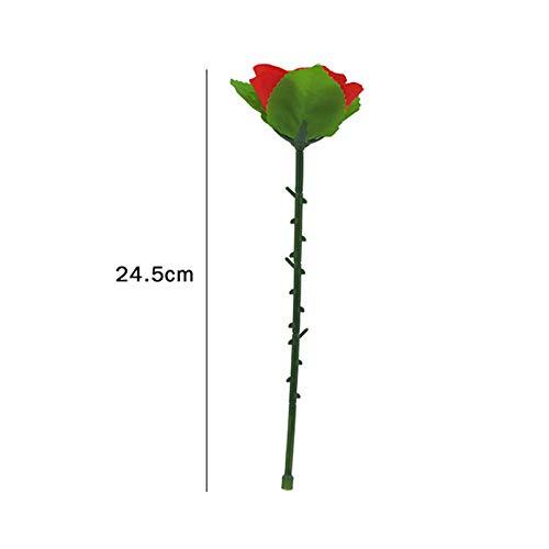 Kangkangk 2pcs Magic Tricks, Folding Appearing Rose, Flowers Rose Trick Magic Tricks Toys Accessories Magic Appearing Magic Rose Illusion Props for Stage Bar Party Home Shows Street (1)