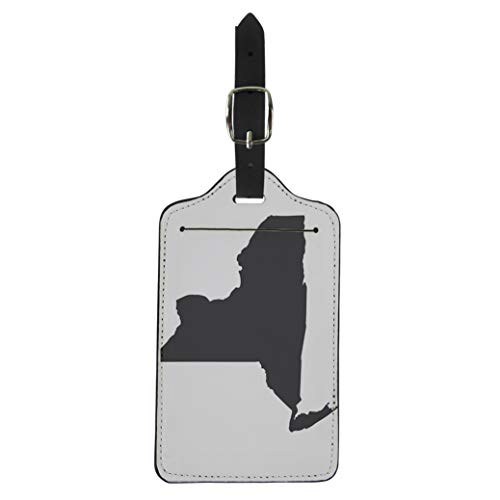 - Pinbeam Luggage Tag Shape New York State Map in Black Suitcase Baggage Label