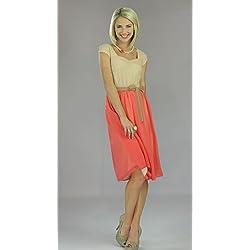 "Mikarose Women's ""Julia"" Modest Dress, Coral"