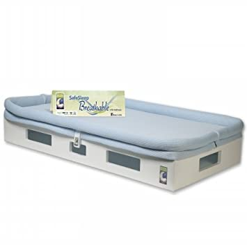 Secure Beginnings Safesleep Breathable Crib Mattress, White/Blue, Standard