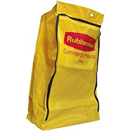 Zoom Supply Rubbermaid 6183 Cart Bag, Commercial-Grade Rubbermaid Trash Cart Bag, Rugged Yellow Vinyl Rubbermaid Cleaning Cart Bag -- Unlike Whimpy Cheapies This Lasts Way, Way Longer