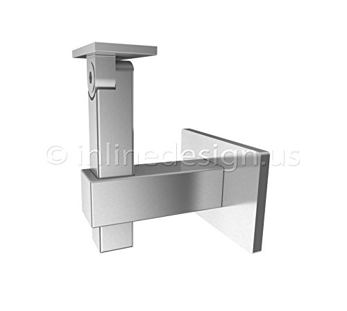 Stainless Steel Handrail Wall Bracket Square Magnetar (Square Handrail Bracket compare prices)
