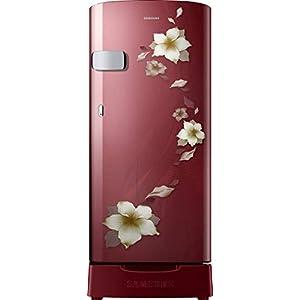 Samsung 192 L 2 Star Direct-Cool Single Door Refrigerator (RR19T2Z2BR2/NL, Star Flower Red)