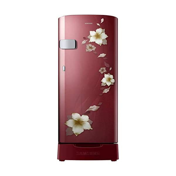 Samsung 192 L 2 Star Direct-Cool Single Door Refrigerator (RR19T2Z2BR2/NL, Star Flower Red) 2021 July Direct-cool refrigerator : Economical and Cooling without fluctuation Capacity 192 liters: Suitable for families with 2 to 3 members and bachelors Energy rating 2 Star