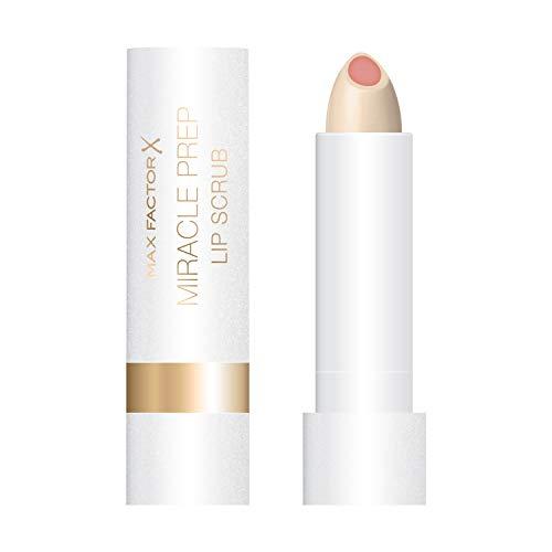 Max Factor Miracle Prep Lip Scrub für glatte Lippen mit feinem Zuckerpeeling, feuchtigkeitsspendend und einfach aufzutragen, 1er Pack (1 x 4 g)
