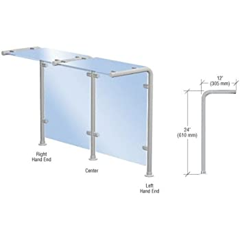 crl brushed stainless style 30 slimline series sneeze guard center by cr laurence