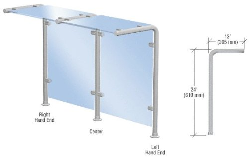 Stainless Steel Sneeze Guard (CRL Brushed Stainless Style 30 Slimline Series Sneeze Guard- Left Hand End by CR Laurence)