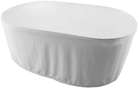 KaufPirat Premium Funda para Muebles de Jardín Ovalado 150x100x70 cm Cubierta Impermeable Funda para Mesa para Mobiliario de Exterior Blanco: Amazon.es: Jardín