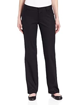 Dickies Women's Relaxed Fit Straight Leg Twill Pant, Black, 14 Long 0