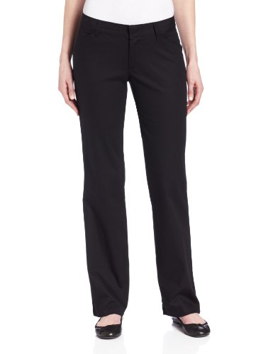 Dickies Women's Relaxed Straight Stretch Twill Pant, Black, 12 Regular